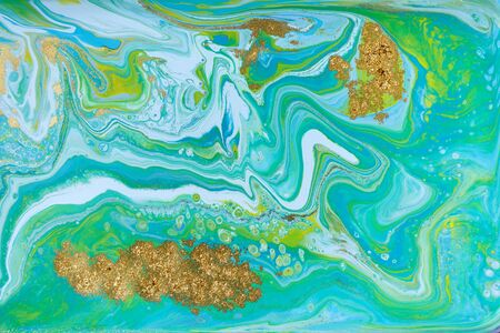 Mixed colored paints background. Ocean ripple style summer pattern. Foto de archivo - 134240054