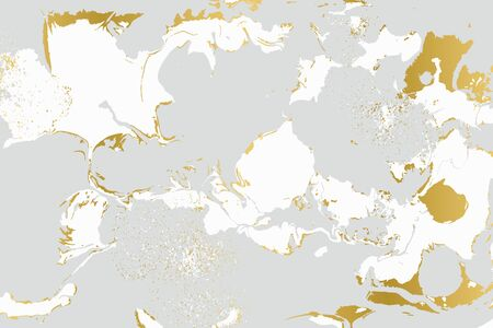 Gray and gold agate ripplle pattern. Pale beautiful marble background. Foto de archivo - 134240083