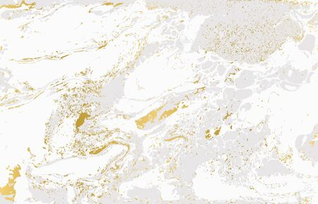 Gray and gold agate ripplle pattern. Pale beautiful marble background. Foto de archivo - 134240082