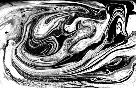 Black and white abstract background. Liquid marble pattern. Monochrome texture. Foto de archivo - 134240086