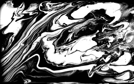Black and white abstract background. Liquid marble pattern. Monochrome texture. Foto de archivo - 134240097