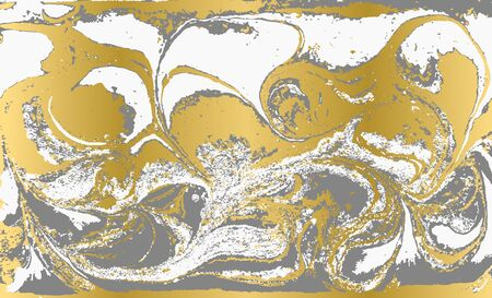 Gray and gold agate ripplle pattern. Pale beautiful marble background.