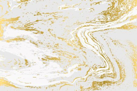 Minimalistic gold and gray marble pattern. Agate background. Ilustrace