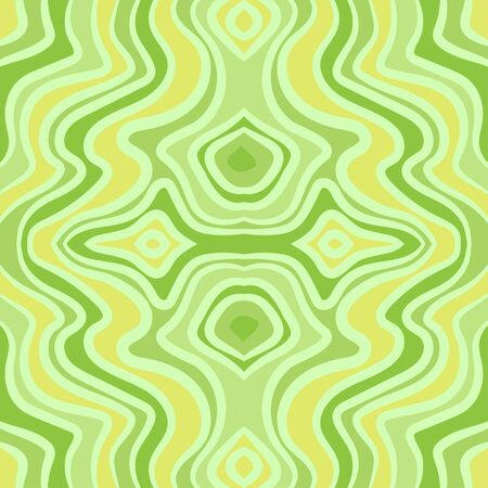 Abstract green wave seamless pattern.