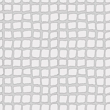 Bricks handdrawn seamless gray pattern. Vector illustration.
