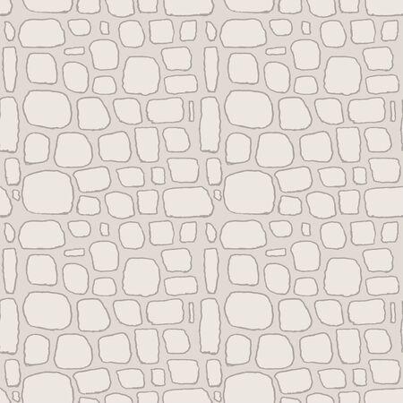 Stones handdrawn seamless gray pattern. Vector illustration. 版權商用圖片 - 144271126
