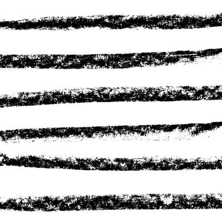 Vector chalked handmade lines. Chalk hand drawn strokes. Vector handdrawn illustration. Vecteurs