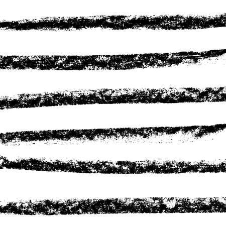 Vector chalked handmade lines. Chalk hand drawn strokes. Vector handdrawn illustration. Vector Illustration