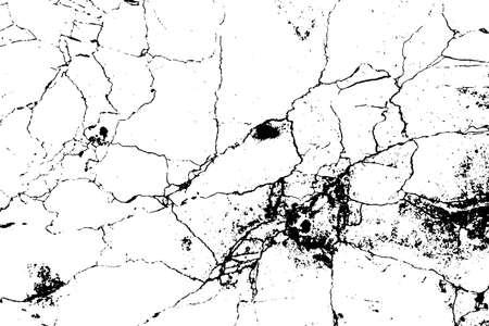 Black and white marble cracks simple texture. Vector illustration. Ilustração