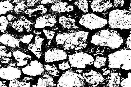 Grunge old stone wall texture. Antique bricks background. Vector illustration.