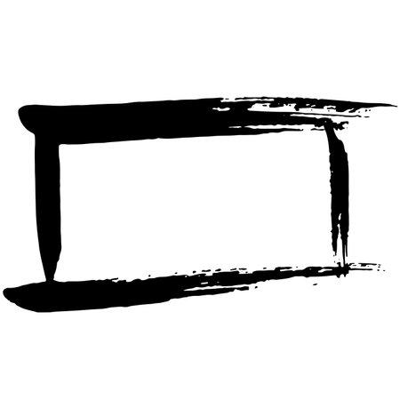Ink vector brush stroke frame. Vector illustration. Grunge texture.