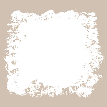 Ink torn white dry brush texture. Vector illustration. Grunge hand drawn beige background. Space for text.