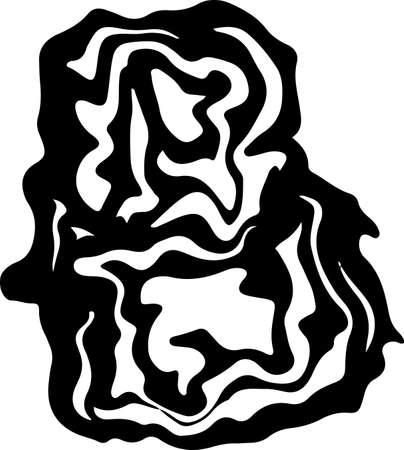 Letter B. Marble style font. Vector illustration.
