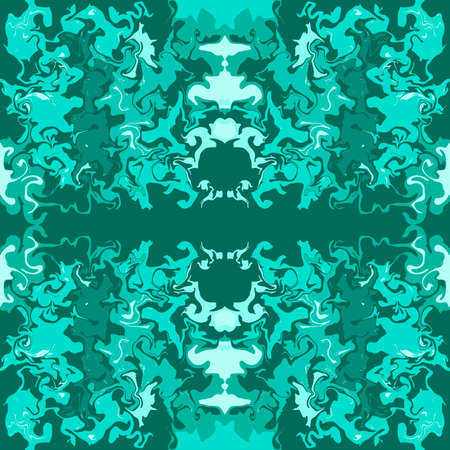 Abstract marble green print pattern. Vector illustration.