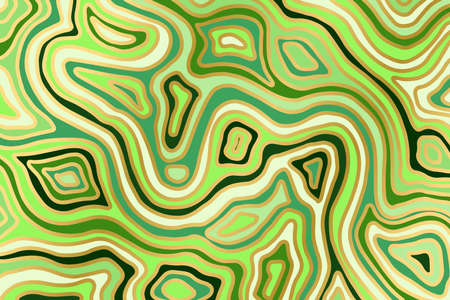 Abstract marble green and gold background. Agate slice ripple texture imitation. Vector illustration.