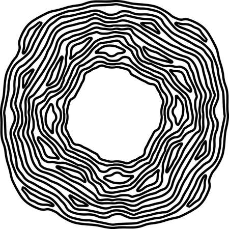 Geometric ornate simple frame. Vector black and white illustration.
