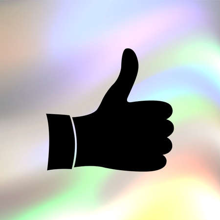 10 fingers: Like vector icon Illustration