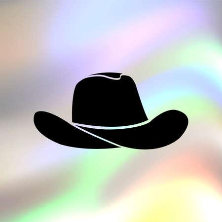 vaquero: Icono de vectores sombrero de vaquero