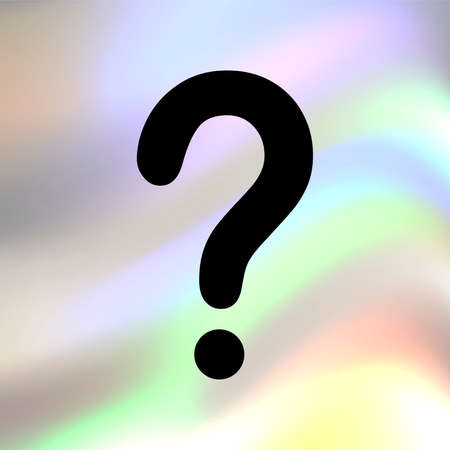 Question mark vector icon Vector