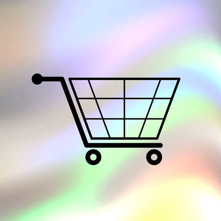 Shopping cart vector icon Vector