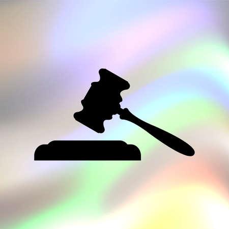 governmental: Juez o subasta vector icono Vectores