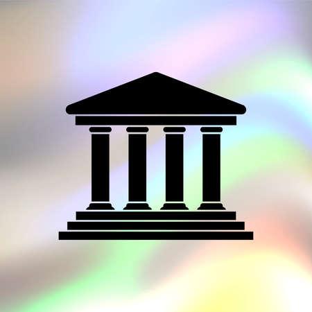 governmental: Icono de Vector del edificio de la Corte Vectores