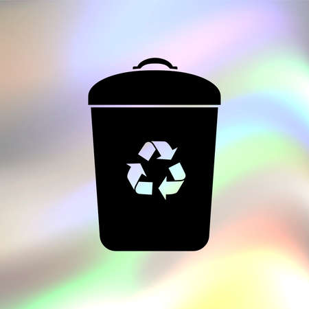 trash bin: Trash bin vector icon Illustration