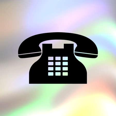 telephone: Telephone vector icon Illustration