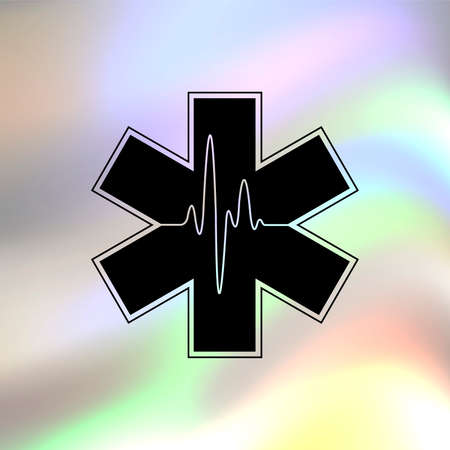 star of life: Life star vector icon