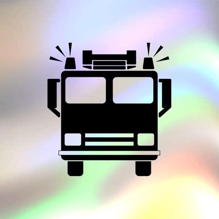 voiture de pompiers: Feu icône vecteur de moteur