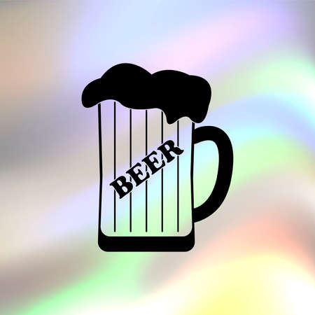 draughts: Mug of beer vector icon Illustration