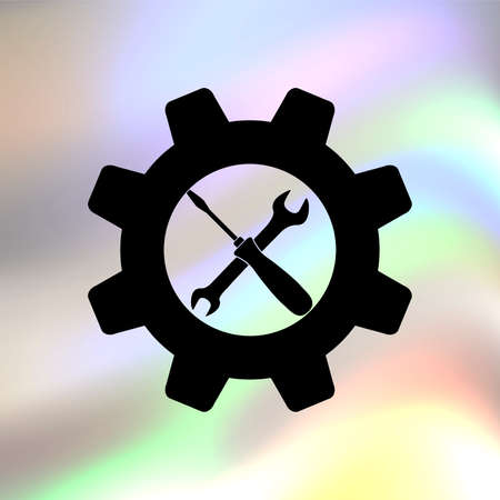 rebuild: settings vector icon Illustration