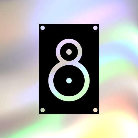 PARLANTE: música del icono del vector del altavoz