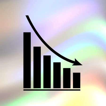 declining graph Vector