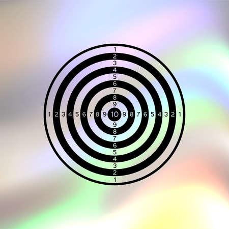 dartboard: dartboard vector icon Illustration