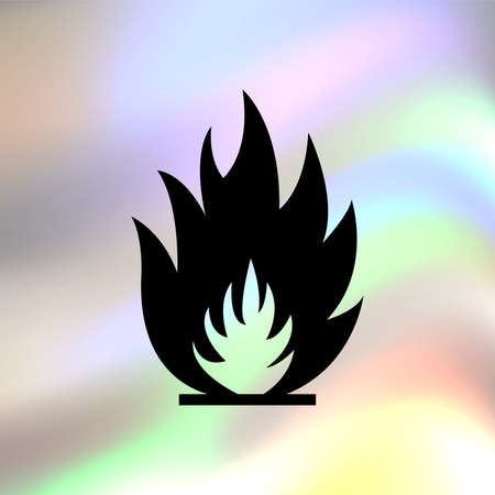 flames vector: fire flames vector icon Illustration