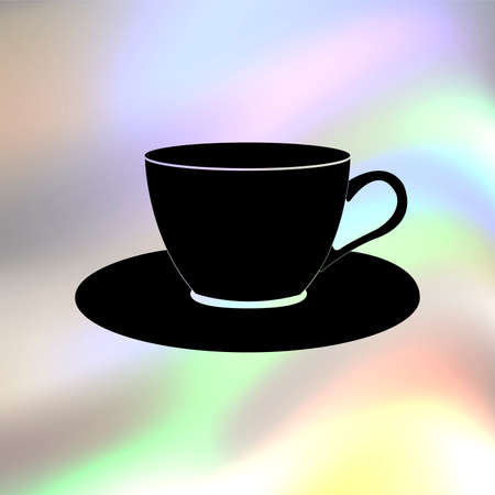 saucer: cup and saucer vector icon