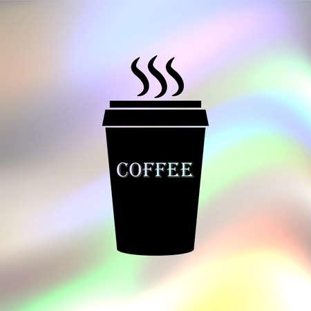 plastic: plastic beker koffie
