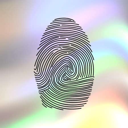 ides: fingerprint vector icon Illustration