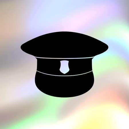 speciality: police cap vector icon