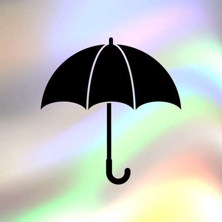 umbrella vector icon Иллюстрация