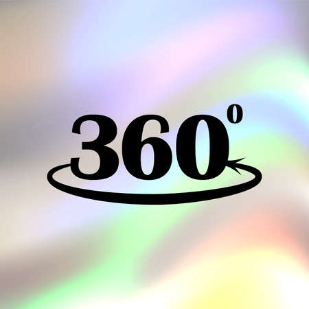 degrees: angle 360 degrees vector icon