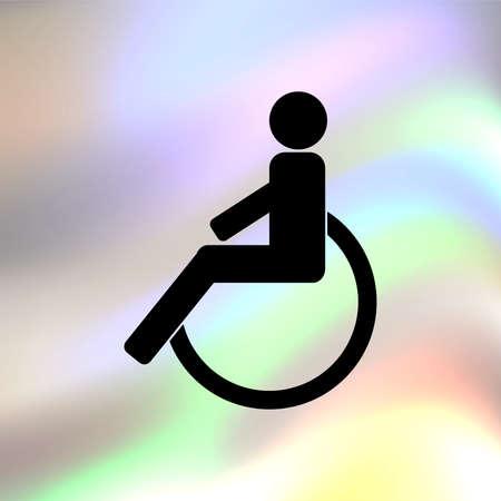 clipart street light: disabled Illustration