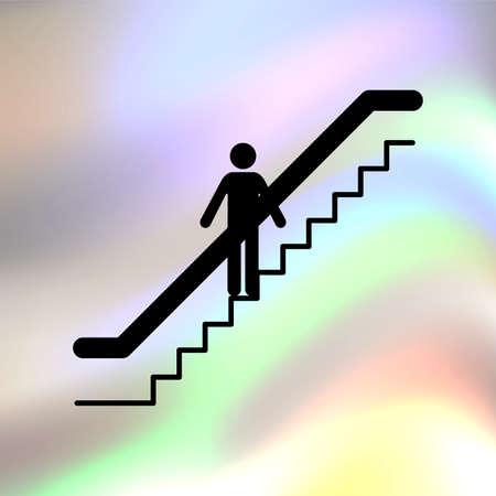 escalator: escalator vector icon