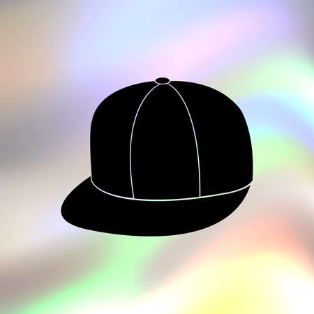 rapero: rapero icono sombrero vector