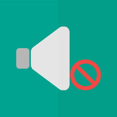 noiseless: no sound vector icon. Flat design Illustration