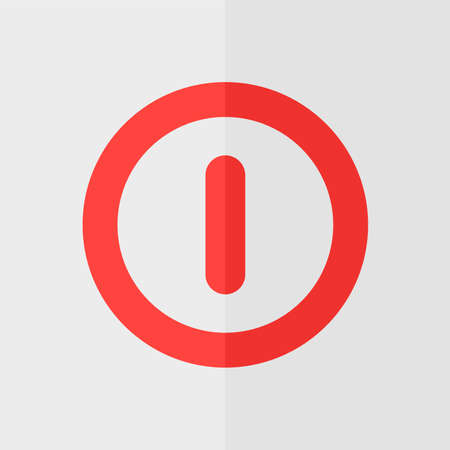 turns: Turn off vector icon. Flat design Illustration