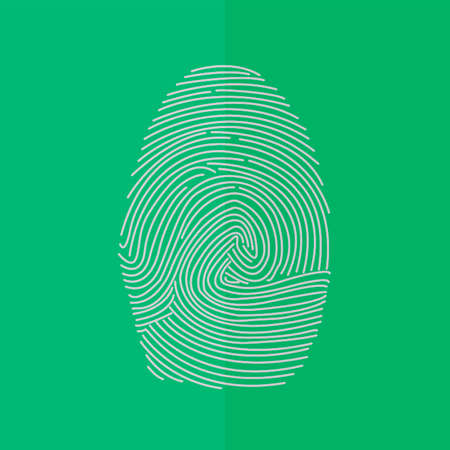 ides: fingerprint vector icon. Flat design