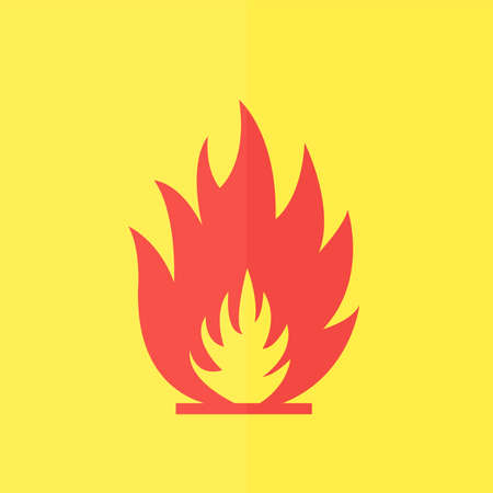 fuoco e fiamme: Fire flames vector icon. Flat design