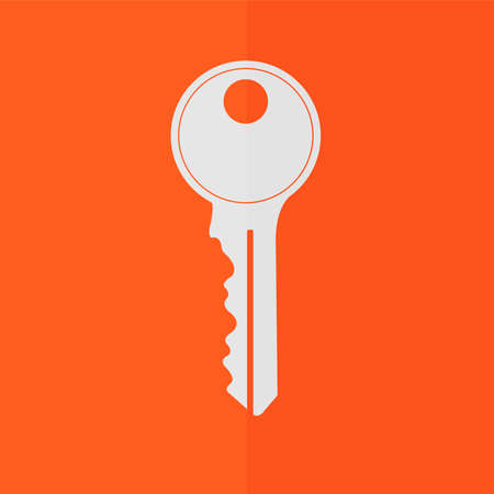 10 key: Key vector icon. Flat design Illustration